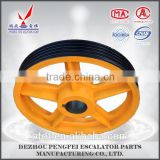 Hitachi elevator traction wheel, elevator wheel sheave, elevator pulley sheave
