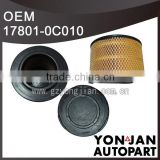 17801-0C010 Pickup air filter for Toyota