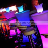 Sales promotion in July!RIGEBA Wonderful color waterproof LED furniture Shinning square/round led cocktail table