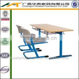 High quality plywood school desks and chairs/double students desk and chair for classroom sets school furniture
