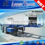 Cheap price 2 axles 20ft container trailer chassis truck, skeletal container utility trailer for sale