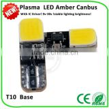 guangzhou factory price Light emmitting plasma 160mA W5W 168 194 car parts wholesale led car light t10 cob canbus