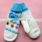 Fashionable! Cute warm knitted adults' gloves