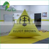 Water Park Equipment Inflatable Buoy / Custom Shape And Logo Marker Yellow Triangle Buoy
