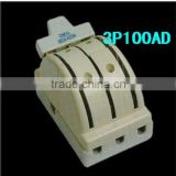 3P100A 3 pole double throw porcelain electric knife switch