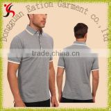 custom design cotton casual double button collar polo shirt for man