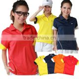 Ladies T shirt designs for women sports wear cotton polo, jersey black fashion, summer wholesale clothing