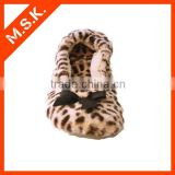 Newest design fashion leopard printing ballet flat shoes