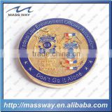 die casting custom 3D zinc alloy brass metal gold coin