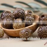 Olive Wood Round Carved Beads