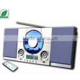 Hi-Fi digital display frequency CD Player with AM FM Radio with USB Slot and remote control mounted on wall