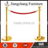 Event Retractable Velvet Rope Barrier Gold Post Stanchion JC-LG19