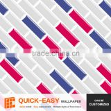Dongde Quick-Easy wallpaper, classic strip vinyl tile sticker for bathroom living room backsplash wall
