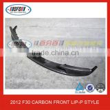 FOR BMW 3 SERIES F30 FRONT BUMPER LIP-P STYLE 2012 CARBON FRONT LIP