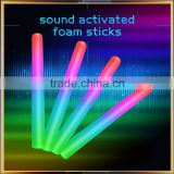 2016 Gadget New Design LED Foam Stick with Sound Activated, Led Flashing Light foam stick with Sound Activated