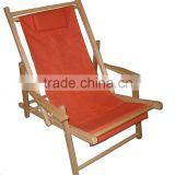 L111 ORANGE Canvas beach folding Deck Chair with pillow