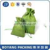 Custom Logo OEM drawstring Hemp Ring Bag for gift pencil fountain sales promotion - Boyang Packing Manufacturer