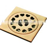 brass material gold plating floor drain ZG-301