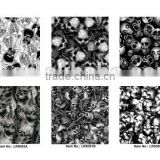 royalty design skull pattern water transfer printing paper, hydrographic film water transfer No.A3SK10V1 A3 size 20 patterns