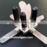 Rose Quartz Agate Energy Generator : With Black Tourmaline : Agate energy generator Angel