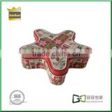 Five-pointed star shaped gift tin box/gift tin box for children/candy packaging