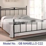 Metal Bedroom Furniture Double Bed In Simple Black Color Design With Vintage Look And Antique Appearance