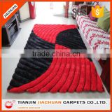 3D design wholesale polyester modern shaggy rug