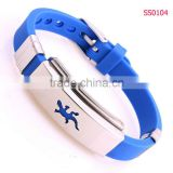 Fashion Unique Blue Silicone Lizard Bracelet