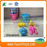 Summer toy sand beach bucket toys set for sale 5pcs