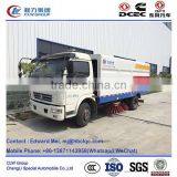Dongfeng 4*2 type 120hp 7 ton tractor mounted sweeper