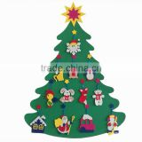 China Christmas Decoration Supplies Wall Hanging Craft Toys Kids Felt Christmas Tree in stock