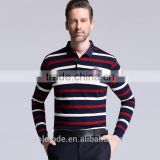 Spring New Style Brand Striped Long Sleeve T Shirt Business Polo T Shirt High Quality polo Shirt