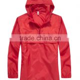 Factory Red Hoody Windproof Lady Coat rain coat