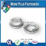 Made in Taiwan Regular Zinc Plated Stainless Steel Silicon Bronze Medium Split Lock Washer