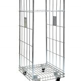 Two Sides Collapsible Wire Mesh Roll Cage Container For Warehouse