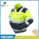 OEM service Ansi standard reflective fluorescent blue safety reflective jacket