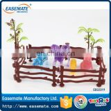Hot Selling Kid Farm Toy Crystal Poultry Animals With fence