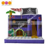 Outdoor playground pirate inflatable combo jumping bouncer with kids toy