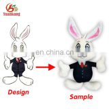 Dongguan customized made stuffed rabbit character plush doll toy maker