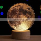 Hot Selling Creative Scandinavian Festival Daily or Christmas Moon Light Galaxy Little Prince Little Night Lamp Desk Lig