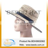 New products 2014 natural grass sombrero crushable men cheap straw hat