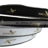 wholesale 100% polyester solid color custom printed grosgrain ribbon