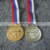 bulk 3D embossed logo made Russian emblem gold silver bronze medal for events