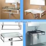 polished chrome stainless steel bathroom bracket with towel bar