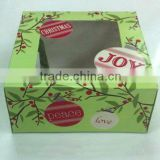 2016 hot selling custom foldable decoration cupcake box with handles