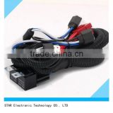 Low price automotive H4 9003 Headlight Relay Wiring Harness With High Heat Ceramic Plugs