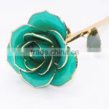 Luxury Rose 24 k Gold Dipped Artificial Rose Flower Wedding Gifts
