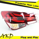 AKD Car Styling Chevrolet Cruze LED Tail Lights 2009- 2014 Cruze Tail Lights led Rear Trunk Lamp DRL+Turn Signal+Reverse+Brake