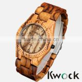 2014 new products wholesale 3ATM Waterproof Wood Watch Bewell Zebra Wooden Watch                                                                         Quality Choice