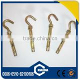 open hook sleeve anchors yellow zinc plated carbon steel China manufacturer supply high quality good price